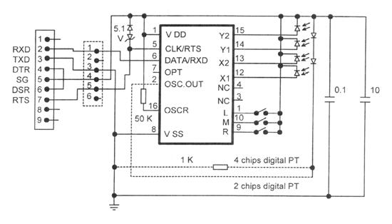 электрическая схема мыши с